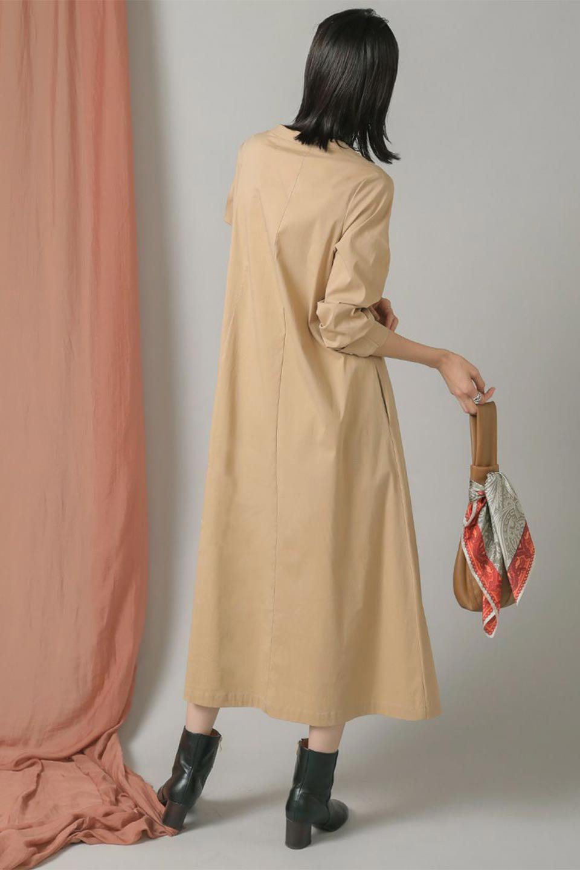 CollarlessFlareDressノーカラー・フルオープンワンピース大人カジュアルに最適な海外ファッションのothers(その他インポートアイテム)のワンピースやマキシワンピース。ノーカラーデザインとフレアシルエットが美しい無地ワンピース。切替でフレアに広がったラインが美しいワンピース。/main-27