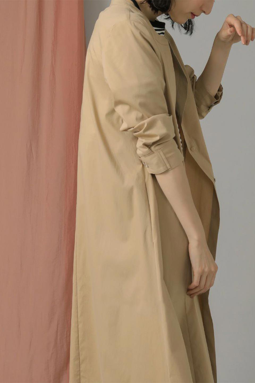 CollarlessFlareDressノーカラー・フルオープンワンピース大人カジュアルに最適な海外ファッションのothers(その他インポートアイテム)のワンピースやマキシワンピース。ノーカラーデザインとフレアシルエットが美しい無地ワンピース。切替でフレアに広がったラインが美しいワンピース。/main-28