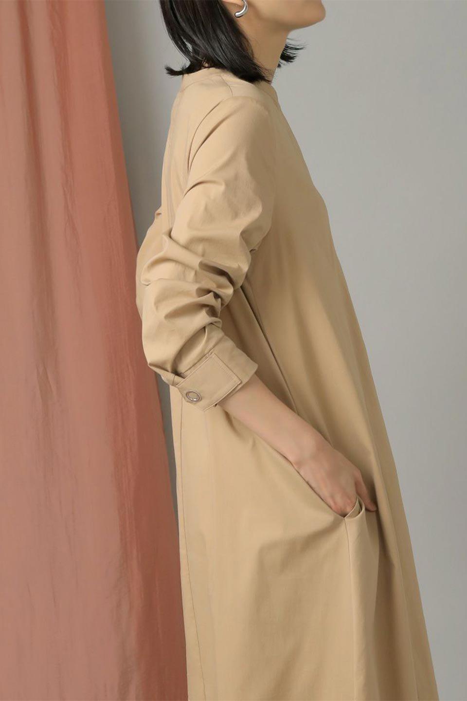 CollarlessFlareDressノーカラー・フルオープンワンピース大人カジュアルに最適な海外ファッションのothers(その他インポートアイテム)のワンピースやマキシワンピース。ノーカラーデザインとフレアシルエットが美しい無地ワンピース。切替でフレアに広がったラインが美しいワンピース。/main-29