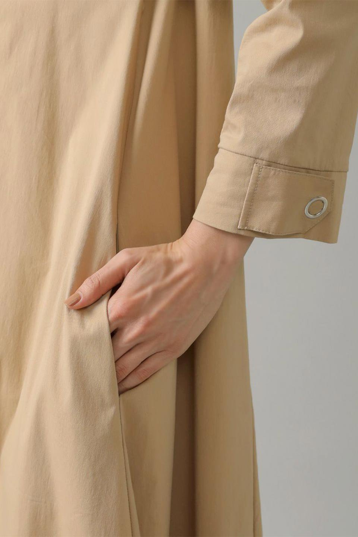 CollarlessFlareDressノーカラー・フルオープンワンピース大人カジュアルに最適な海外ファッションのothers(その他インポートアイテム)のワンピースやマキシワンピース。ノーカラーデザインとフレアシルエットが美しい無地ワンピース。切替でフレアに広がったラインが美しいワンピース。/main-37