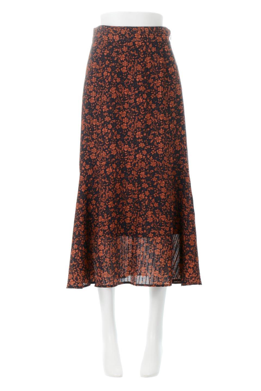 FloralPrintedMermaidSkirt花柄切り替え・マーメイドスカート大人カジュアルに最適な海外ファッションのothers(その他インポートアイテム)のボトムやスカート。エレガントで女性らしいマーメイドラインの花柄スカート。全体的にIラインながら途中から切り替えが入っており、裾部分はフレアに。