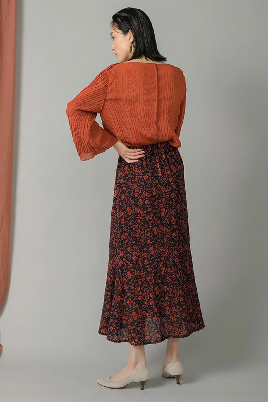FloralPrintedMermaidSkirt花柄切り替え・マーメイドスカート大人カジュアルに最適な海外ファッションのothers(その他インポートアイテム)のボトムやスカート。エレガントで女性らしいマーメイドラインの花柄スカート。全体的にIラインながら途中から切り替えが入っており、裾部分はフレアに。/main-14