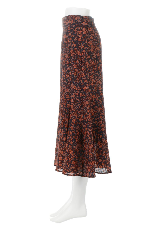 FloralPrintedMermaidSkirt花柄切り替え・マーメイドスカート大人カジュアルに最適な海外ファッションのothers(その他インポートアイテム)のボトムやスカート。エレガントで女性らしいマーメイドラインの花柄スカート。全体的にIラインながら途中から切り替えが入っており、裾部分はフレアに。/main-2
