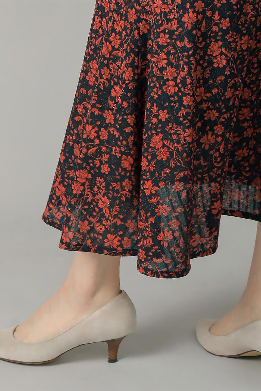 FloralPrintedMermaidSkirt花柄切り替え・マーメイドスカート大人カジュアルに最適な海外ファッションのothers(その他インポートアイテム)のボトムやスカート。エレガントで女性らしいマーメイドラインの花柄スカート。全体的にIラインながら途中から切り替えが入っており、裾部分はフレアに。/main-20