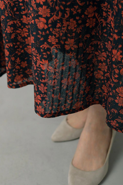 FloralPrintedMermaidSkirt花柄切り替え・マーメイドスカート大人カジュアルに最適な海外ファッションのothers(その他インポートアイテム)のボトムやスカート。エレガントで女性らしいマーメイドラインの花柄スカート。全体的にIラインながら途中から切り替えが入っており、裾部分はフレアに。/main-21