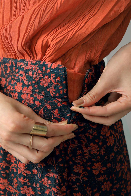 FloralPrintedMermaidSkirt花柄切り替え・マーメイドスカート大人カジュアルに最適な海外ファッションのothers(その他インポートアイテム)のボトムやスカート。エレガントで女性らしいマーメイドラインの花柄スカート。全体的にIラインながら途中から切り替えが入っており、裾部分はフレアに。/main-22