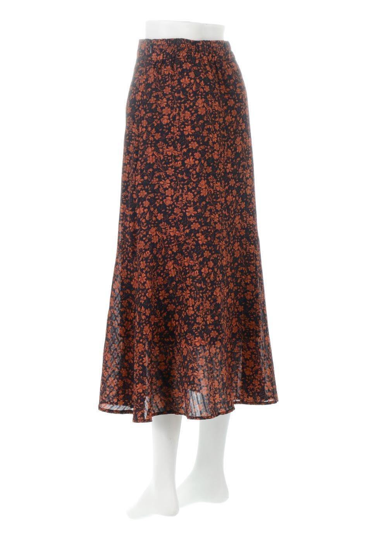 FloralPrintedMermaidSkirt花柄切り替え・マーメイドスカート大人カジュアルに最適な海外ファッションのothers(その他インポートアイテム)のボトムやスカート。エレガントで女性らしいマーメイドラインの花柄スカート。全体的にIラインながら途中から切り替えが入っており、裾部分はフレアに。/main-3