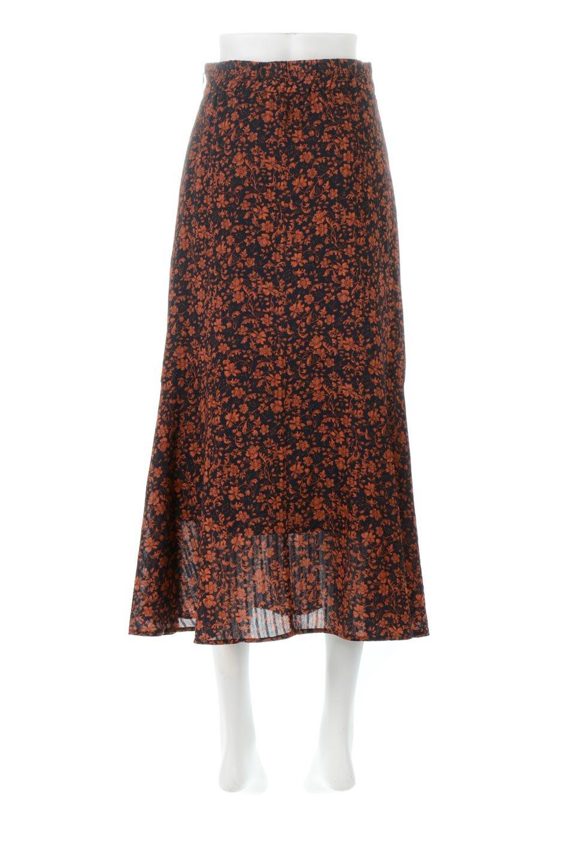 FloralPrintedMermaidSkirt花柄切り替え・マーメイドスカート大人カジュアルに最適な海外ファッションのothers(その他インポートアイテム)のボトムやスカート。エレガントで女性らしいマーメイドラインの花柄スカート。全体的にIラインながら途中から切り替えが入っており、裾部分はフレアに。/main-4