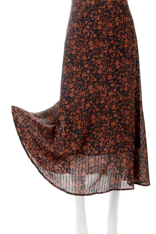 FloralPrintedMermaidSkirt花柄切り替え・マーメイドスカート大人カジュアルに最適な海外ファッションのothers(その他インポートアイテム)のボトムやスカート。エレガントで女性らしいマーメイドラインの花柄スカート。全体的にIラインながら途中から切り替えが入っており、裾部分はフレアに。/main-5