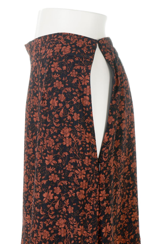 FloralPrintedMermaidSkirt花柄切り替え・マーメイドスカート大人カジュアルに最適な海外ファッションのothers(その他インポートアイテム)のボトムやスカート。エレガントで女性らしいマーメイドラインの花柄スカート。全体的にIラインながら途中から切り替えが入っており、裾部分はフレアに。/main-8
