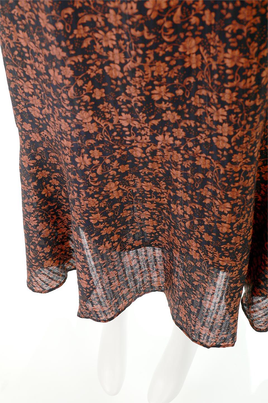 FloralPrintedMermaidSkirt花柄切り替え・マーメイドスカート大人カジュアルに最適な海外ファッションのothers(その他インポートアイテム)のボトムやスカート。エレガントで女性らしいマーメイドラインの花柄スカート。全体的にIラインながら途中から切り替えが入っており、裾部分はフレアに。/main-9