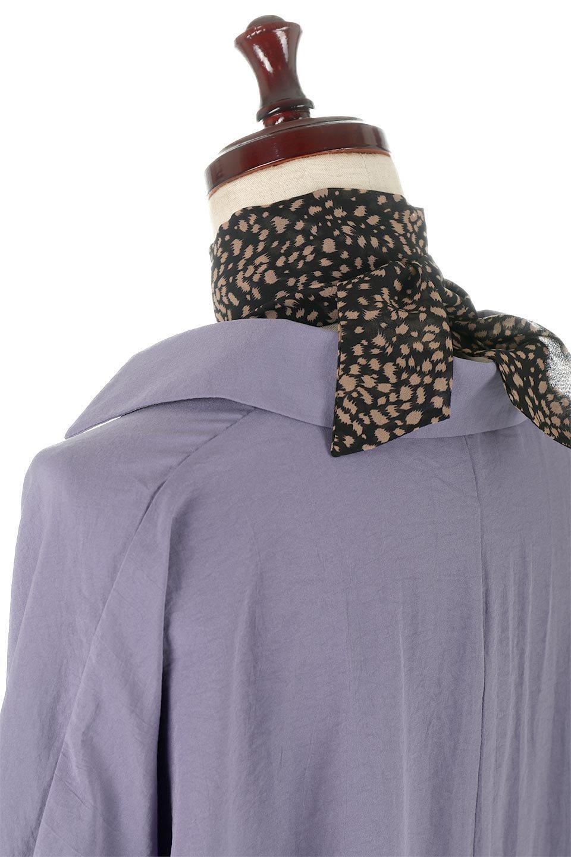 SkipperCollarBigPocketBlouseスカーフ付き・スキッパーブラウス大人カジュアルに最適な海外ファッションのothers(その他インポートアイテム)のトップスやシャツ・ブラウス。シルクのようなさらっとした手触りの生地を用いたシャツブラウス。オーバーサイズでお尻まですっぽりと隠れる丈感となっていますが、首元のV開きにより顔まわりはスッキリ見え、抜け感が出て◎スタイリングのポイントとして取り入れやすい、レオパード柄スカーフ付き。/main-22