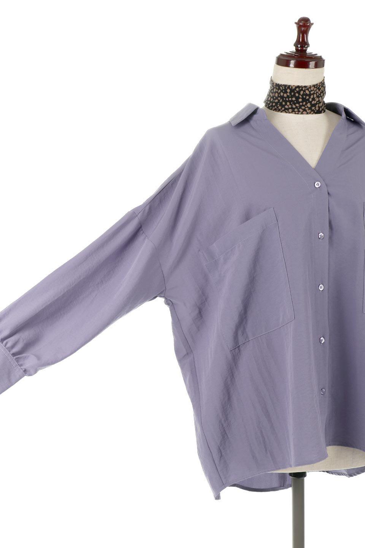 SkipperCollarBigPocketBlouseスカーフ付き・スキッパーブラウス大人カジュアルに最適な海外ファッションのothers(その他インポートアイテム)のトップスやシャツ・ブラウス。シルクのようなさらっとした手触りの生地を用いたシャツブラウス。オーバーサイズでお尻まですっぽりと隠れる丈感となっていますが、首元のV開きにより顔まわりはスッキリ見え、抜け感が出て◎スタイリングのポイントとして取り入れやすい、レオパード柄スカーフ付き。/main-23