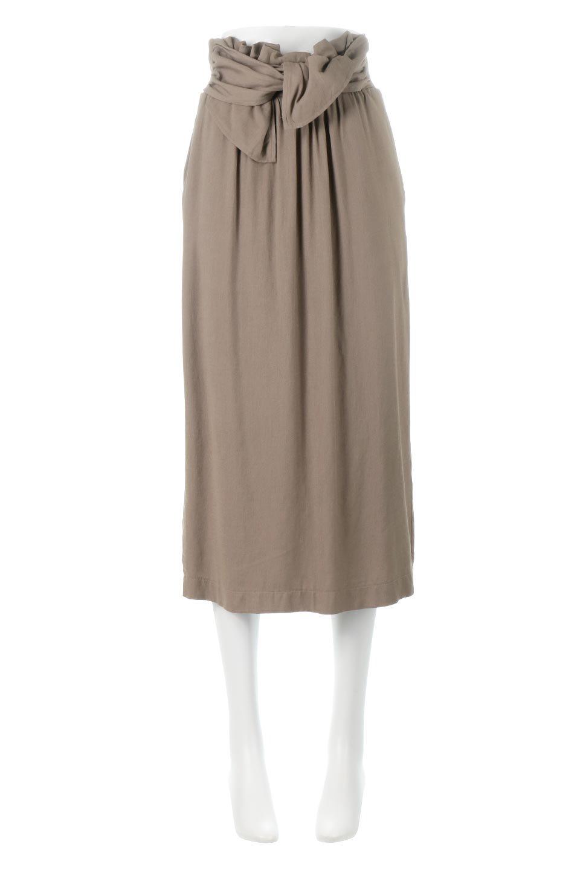 TwistedWaistNarrowSkirtツイストベルト・ナロースカート大人カジュアルに最適な海外ファッションのothers(その他インポートアイテム)のボトムやスカート。表面が凸凹しているので触り心地が少しざらつきがあるスラブ生地を用いたスカート。リボンを結んだようなウエストデザインがあるので、無地Tやシンプルなトップスと合わしてもこなれ感が出ます。
