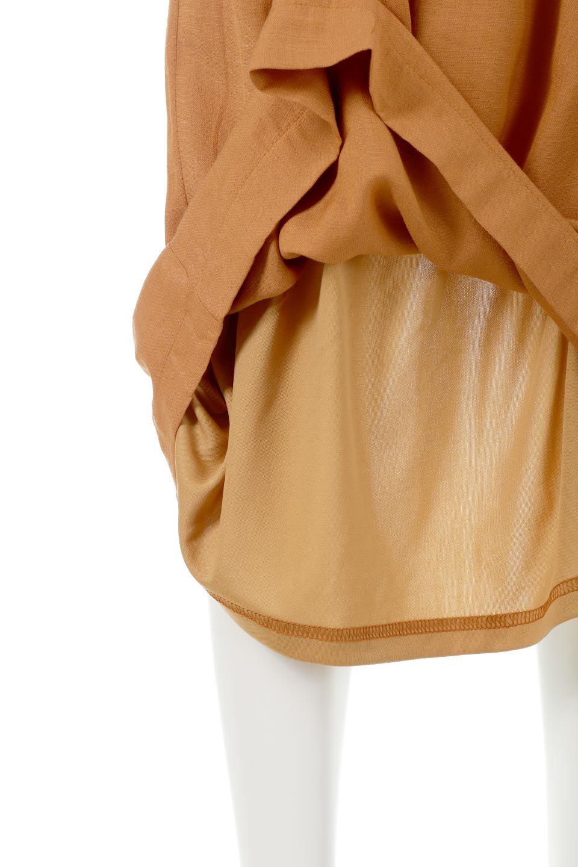 TwistedWaistNarrowSkirtツイストベルト・ナロースカート大人カジュアルに最適な海外ファッションのothers(その他インポートアイテム)のボトムやスカート。表面が凸凹しているので触り心地が少しざらつきがあるスラブ生地を用いたスカート。リボンを結んだようなウエストデザインがあるので、無地Tやシンプルなトップスと合わしてもこなれ感が出ます。/main-21
