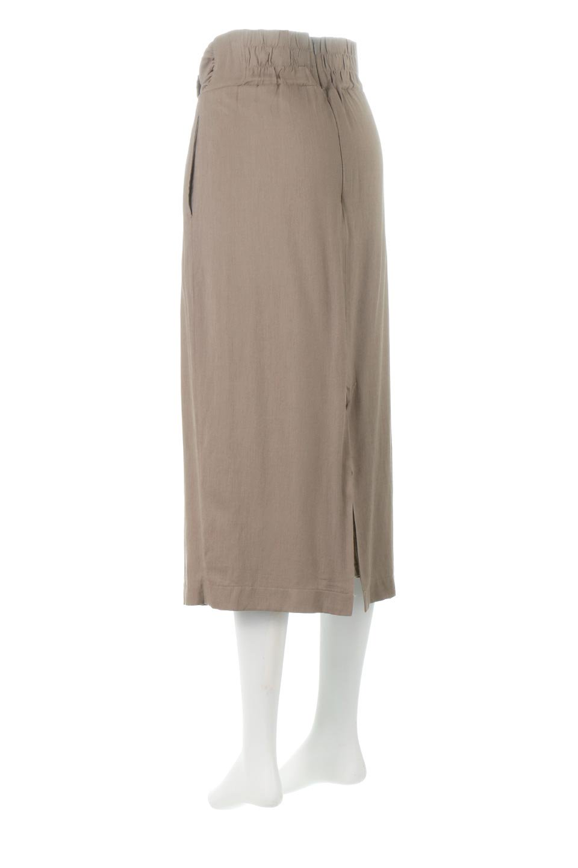 TwistedWaistNarrowSkirtツイストベルト・ナロースカート大人カジュアルに最適な海外ファッションのothers(その他インポートアイテム)のボトムやスカート。表面が凸凹しているので触り心地が少しざらつきがあるスラブ生地を用いたスカート。リボンを結んだようなウエストデザインがあるので、無地Tやシンプルなトップスと合わしてもこなれ感が出ます。/main-3