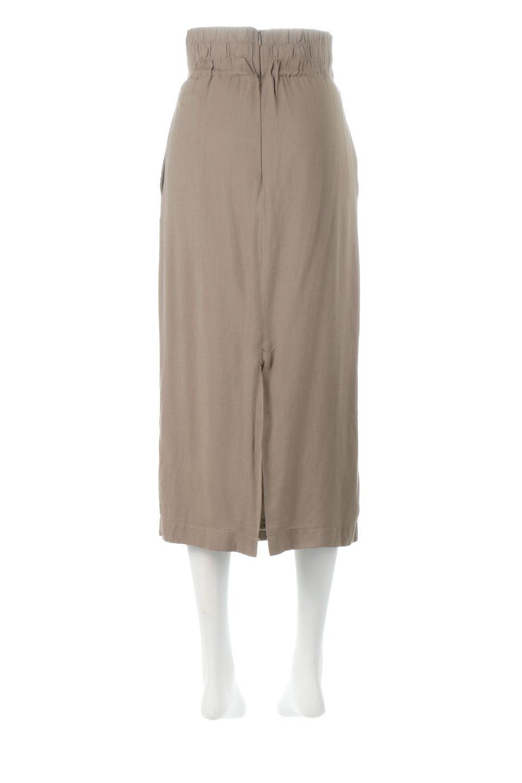 TwistedWaistNarrowSkirtツイストベルト・ナロースカート大人カジュアルに最適な海外ファッションのothers(その他インポートアイテム)のボトムやスカート。表面が凸凹しているので触り心地が少しざらつきがあるスラブ生地を用いたスカート。リボンを結んだようなウエストデザインがあるので、無地Tやシンプルなトップスと合わしてもこなれ感が出ます。/main-4