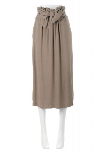 海外ファッションや大人カジュアルに最適なインポートセレクトアイテムのTwisted Waist Narrow Skirt ツイストベルト・ナロースカート