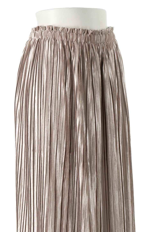 PleatedVelourLongSkirtプリーツ・ベロアスカート大人カジュアルに最適な海外ファッションのothers(その他インポートアイテム)のボトムやスカート。ベロア地をプリーツ加工したロングスカート。たっぷりギャザーを寄せてあるので重量感があり、ストンとした落ち感です。/main-10