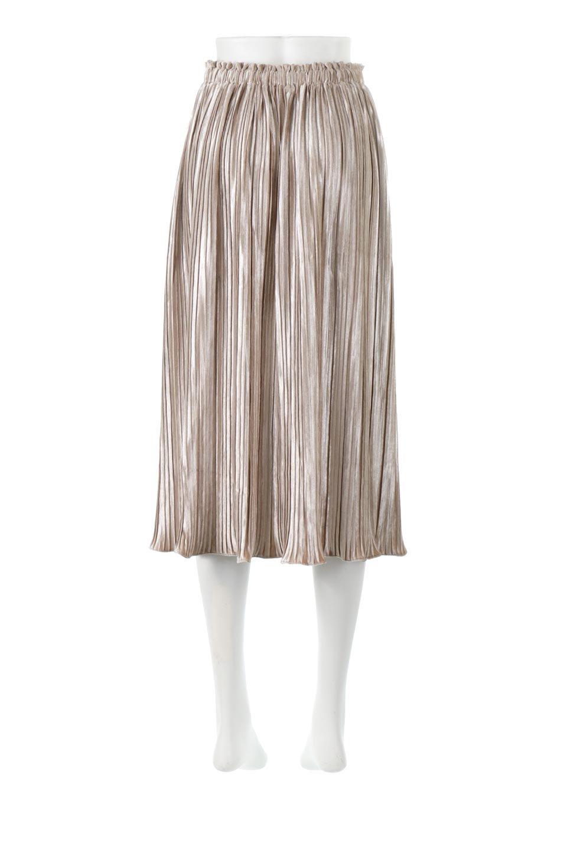 PleatedVelourLongSkirtプリーツ・ベロアスカート大人カジュアルに最適な海外ファッションのothers(その他インポートアイテム)のボトムやスカート。ベロア地をプリーツ加工したロングスカート。たっぷりギャザーを寄せてあるので重量感があり、ストンとした落ち感です。/main-4