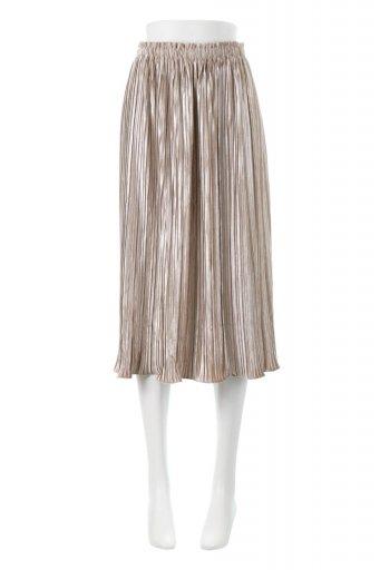 海外ファッションや大人カジュアルに最適なインポートセレクトアイテムのPleated Velour Long Skirt プリーツ・ベロアスカート