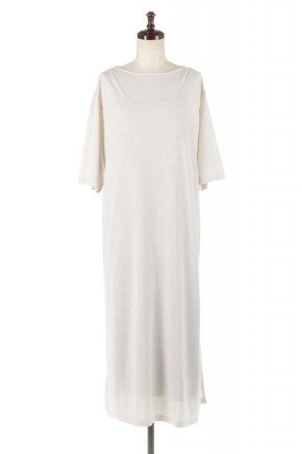 海外ファッションや大人カジュアルに最適なインポートセレクトアイテムのLayered Side Slit Dress サイドスリット・インナーセットワンピース