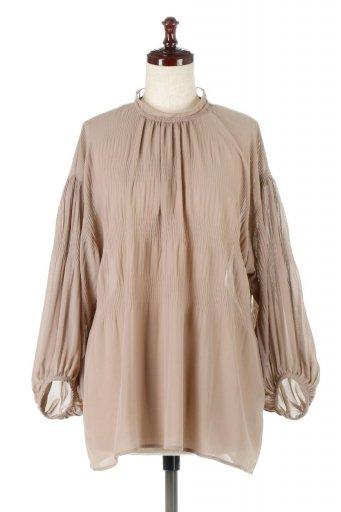 海外ファッションや大人カジュアルに最適なインポートセレクトアイテムのBalloon Sleeve Gathered Blouse バルーンスリーブ・ギャザーブラウス