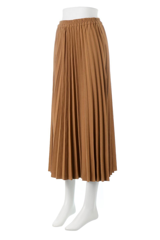 VeganSuedePleatedSkirtビーガンスエード・プリーツスカート大人カジュアルに最適な海外ファッションのothers(その他インポートアイテム)のボトムやスカート。マットな質感が魅力のビーガンスエードを使ったプリーツスカート。ウエストは全体がゴムになっています。/main-1
