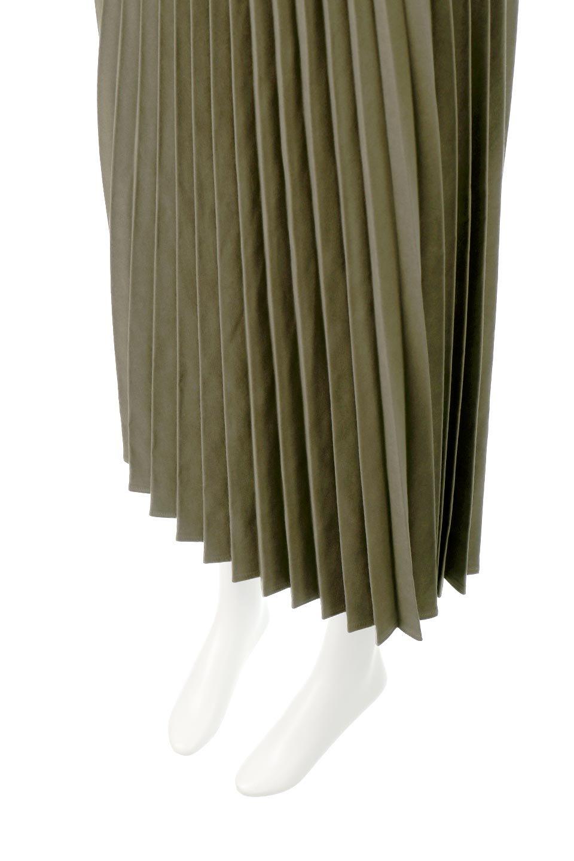 VeganSuedePleatedSkirtビーガンスエード・プリーツスカート大人カジュアルに最適な海外ファッションのothers(その他インポートアイテム)のボトムやスカート。マットな質感が魅力のビーガンスエードを使ったプリーツスカート。ウエストは全体がゴムになっています。/main-18