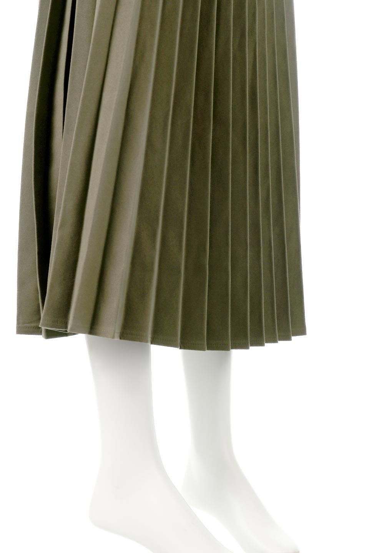 VeganSuedePleatedSkirtビーガンスエード・プリーツスカート大人カジュアルに最適な海外ファッションのothers(その他インポートアイテム)のボトムやスカート。マットな質感が魅力のビーガンスエードを使ったプリーツスカート。ウエストは全体がゴムになっています。/main-19