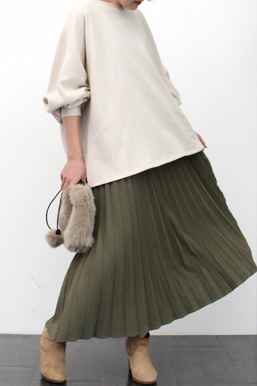 VeganSuedePleatedSkirtビーガンスエード・プリーツスカート大人カジュアルに最適な海外ファッションのothers(その他インポートアイテム)のボトムやスカート。マットな質感が魅力のビーガンスエードを使ったプリーツスカート。ウエストは全体がゴムになっています。/main-26