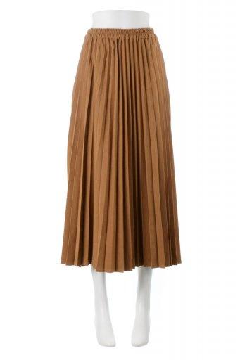 海外ファッションや大人カジュアルに最適なインポートセレクトアイテムのVegan Suede Pleated Skirt ビーガンスエード・プリーツスカート