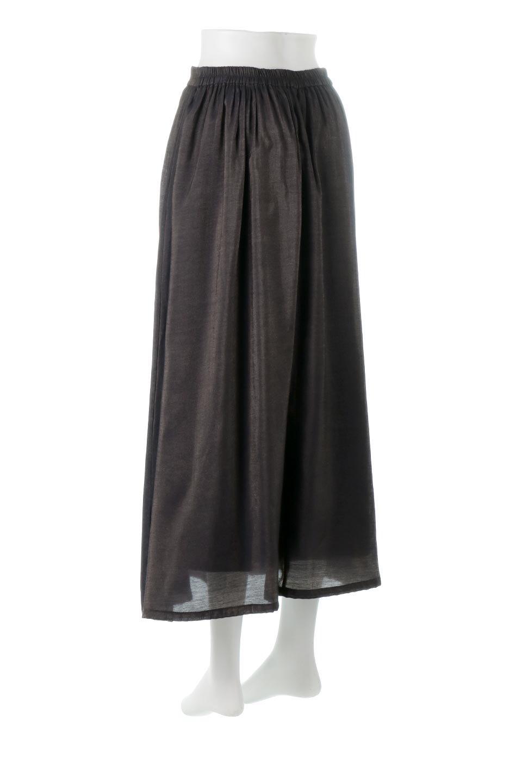 GatheredFlareShinnySkirtシャイニーポプリン・ギャザーフレアースカート大人カジュアルに最適な海外ファッションのothers(その他インポートアイテム)のボトムやスカート。上品な光沢がエレガントなロングフレアスカート。秋冬に合わせやすいロング丈で、それに合わせて裏地も長め。/main-13
