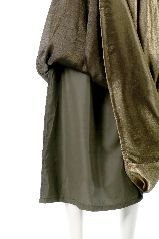 GatheredFlareShinnySkirtシャイニーポプリン・ギャザーフレアースカート大人カジュアルに最適な海外ファッションのothers(その他インポートアイテム)のボトムやスカート。上品な光沢がエレガントなロングフレアスカート。秋冬に合わせやすいロング丈で、それに合わせて裏地も長め。/main-19