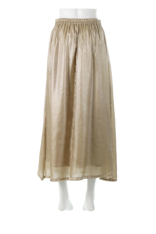 GatheredFlareShinnySkirtシャイニーポプリン・ギャザーフレアースカート大人カジュアルに最適な海外ファッションのothers(その他インポートアイテム)のボトムやスカート。上品な光沢がエレガントなロングフレアスカート。秋冬に合わせやすいロング丈で、それに合わせて裏地も長め。/main-9