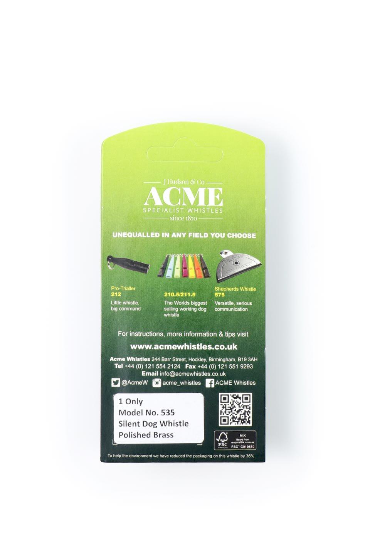 AcmeのAcmeSilentDogWhistle(Brass)アクメ社・サイレントドッグホイッスル(ポリッシュブラス)/ACMEWhistleのドッググッズやその他。1935年以来販売を開始してから世界中のトレーナーに愛され続けているACME社のドッグホイッスル(犬笛)。1マイル(1.5km)先までクリアに響く音色は自分の犬に合わせて周波数を自由に調節で来ます。/main-2
