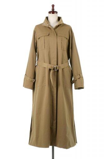 海外ファッションや大人カジュアルに最適なインポートセレクトアイテムのUrban Military Long Coat ミリタリー・ロングコート