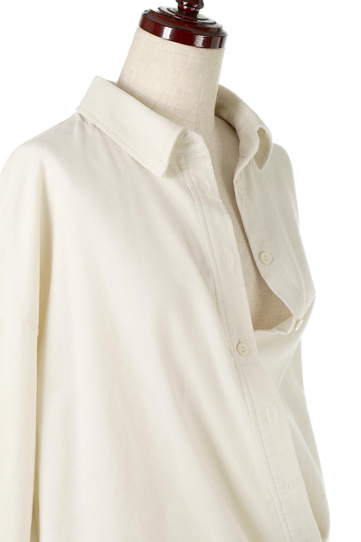 2WayCorduroyOverShirts2ウェイ・コーデュロイシャツ大人カジュアルに最適な海外ファッションのothers(その他インポートアイテム)のトップスやシャツ・ブラウス。着回しやすさバツグンの細うねコーデュロイのアレンジシャツ。2パターンの着こなしが楽しめる仕様となっています。/main-17