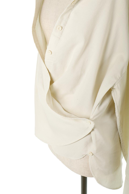2WayCorduroyOverShirts2ウェイ・コーデュロイシャツ大人カジュアルに最適な海外ファッションのothers(その他インポートアイテム)のトップスやシャツ・ブラウス。着回しやすさバツグンの細うねコーデュロイのアレンジシャツ。2パターンの着こなしが楽しめる仕様となっています。/main-22
