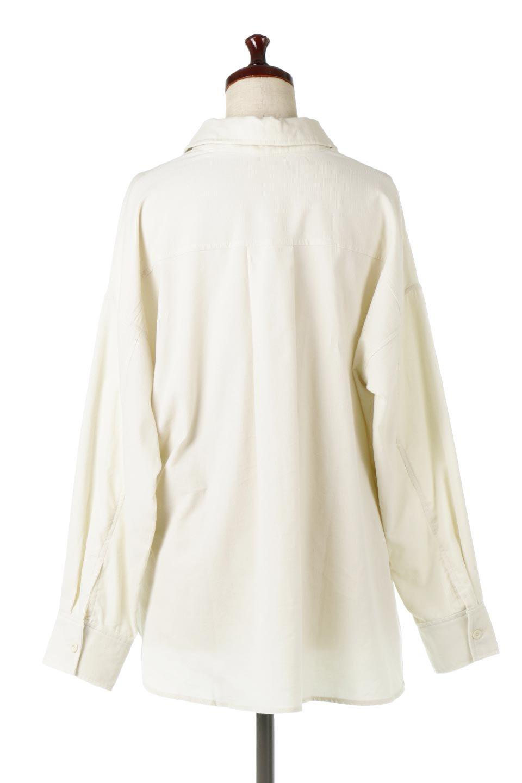 2WayCorduroyOverShirts2ウェイ・コーデュロイシャツ大人カジュアルに最適な海外ファッションのothers(その他インポートアイテム)のトップスやシャツ・ブラウス。着回しやすさバツグンの細うねコーデュロイのアレンジシャツ。2パターンの着こなしが楽しめる仕様となっています。/main-9