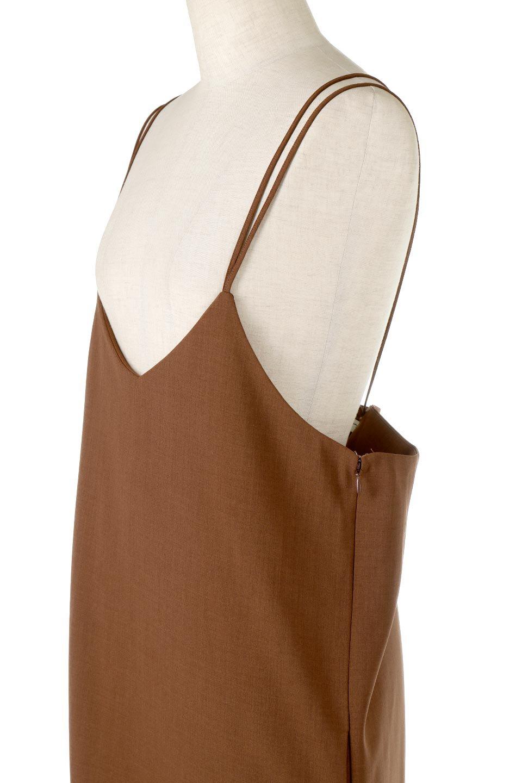 DoubleStrappedWideStyleAll-In-Oneダブルストラップ・ワイドサロペットのボトムやロンパース類。細い2本使いのストラップで、大人っぽく着こなせるサロペット。パンツなのにスカートのように見えるデザインで、ブラウスのような綾織が上品で高見えし、きれいめからカジュアルまで幅広いコーデに対応。/main-11