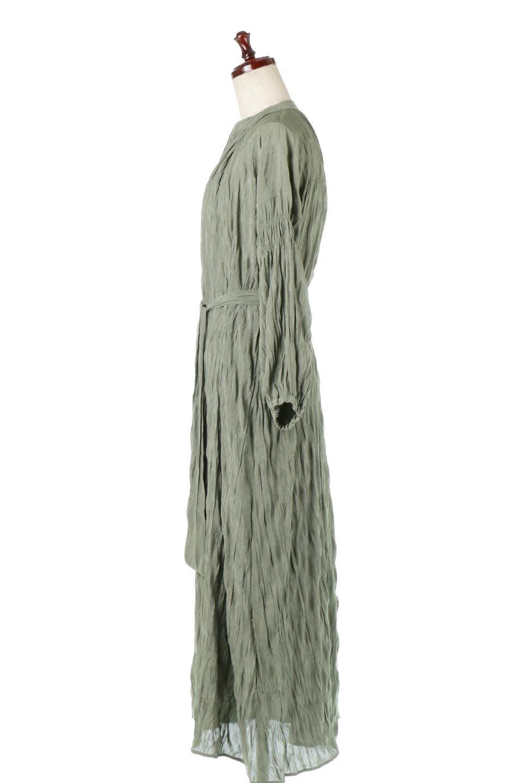WasherSatinLongDressワッシャーサテン・ロングワンピース大人カジュアルに最適な海外ファッションのothers(その他インポートアイテム)のワンピースやマキシワンピース。今年らしいボリューム袖のワンピース。軽くてシワが気にならないので旅行にもぴったり。/main-7