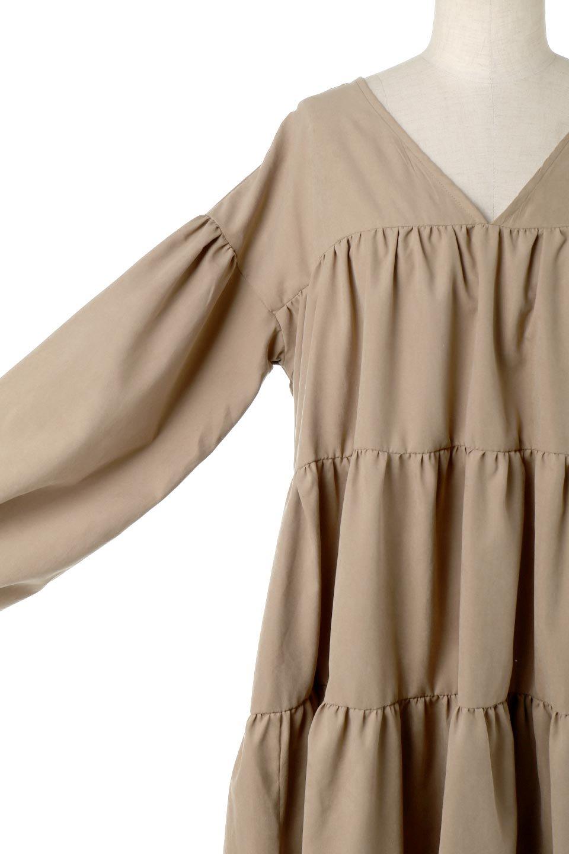 PeachFaceTieredDressピーチフェイス・ティアードワンピース大人カジュアルに最適な海外ファッションのothers(その他インポートアイテム)のワンピースやマキシワンピース。温かみのあるピーチフェイス加工の素材を使用したロングティアードワンピース。ゆったりとしたシルエットで透け感もなく秋冬に活躍しそうなアイテムです。/main-25
