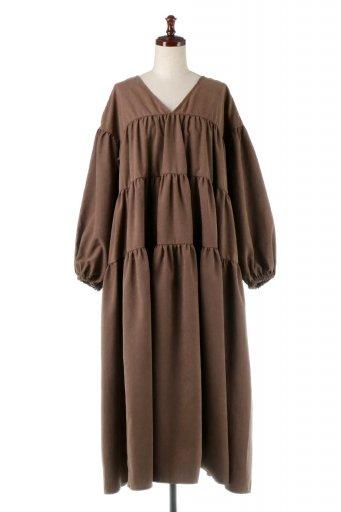 海外ファッションや大人カジュアルに最適なインポートセレクトアイテムのPeach Face Tiered Dress ピーチフェイス・ティアードワンピース
