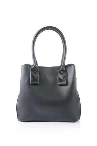 海外ファッションや大人カジュアルのためのインポートバッグ、かばんmelie bianco(メリービアンコ)のAlma (Black) スムースレザー・ハンドバッグ
