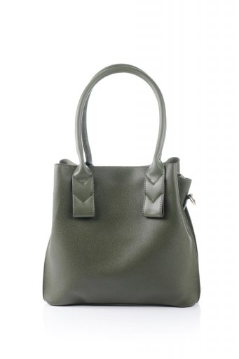 海外ファッションや大人カジュアルのためのインポートバッグ、かばんmelie bianco(メリービアンコ)のAlma (Olive) スムースレザー・ハンドバッグ