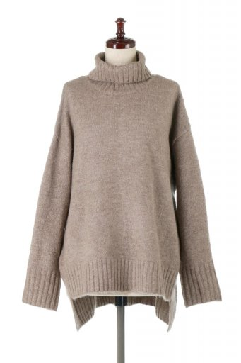 海外ファッションや大人カジュアルに最適なインポートセレクトアイテムのTurtle Neck Soft Knit Pull Over もちもちニット・タートルネックプルオーバー
