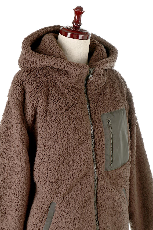 ShearlingFleeceHoodedJacketボアフリース・フード付きジャケット大人カジュアルに最適な海外ファッションのothers(その他インポートアイテム)のアウターやジャケット。もこもこボアのあったかフリースジャケット。程よいミドル丈がボトムスを選ばずコーデを楽しむことができるニュアンスカラーの万能アウターはインナーを変えて秋口から真冬にかけて大活躍。/main-16