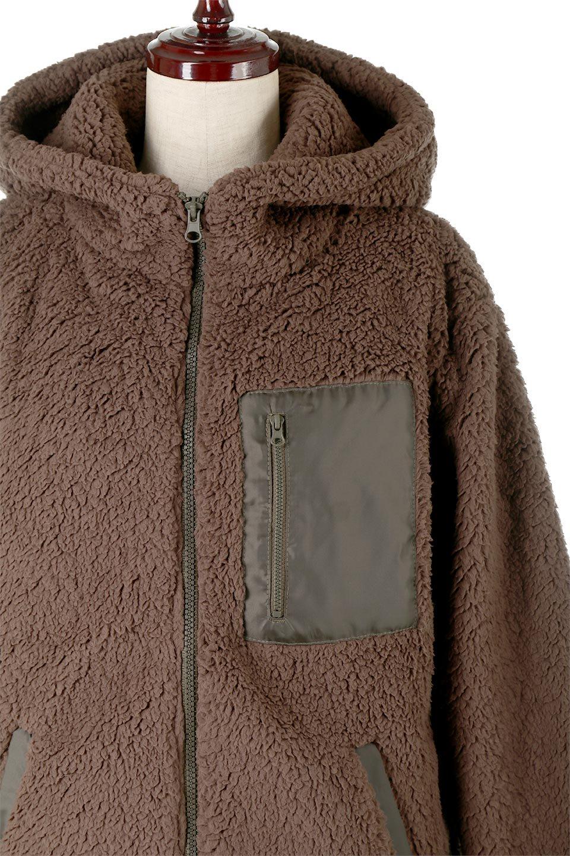ShearlingFleeceHoodedJacketボアフリース・フード付きジャケット大人カジュアルに最適な海外ファッションのothers(その他インポートアイテム)のアウターやジャケット。もこもこボアのあったかフリースジャケット。程よいミドル丈がボトムスを選ばずコーデを楽しむことができるニュアンスカラーの万能アウターはインナーを変えて秋口から真冬にかけて大活躍。/main-17
