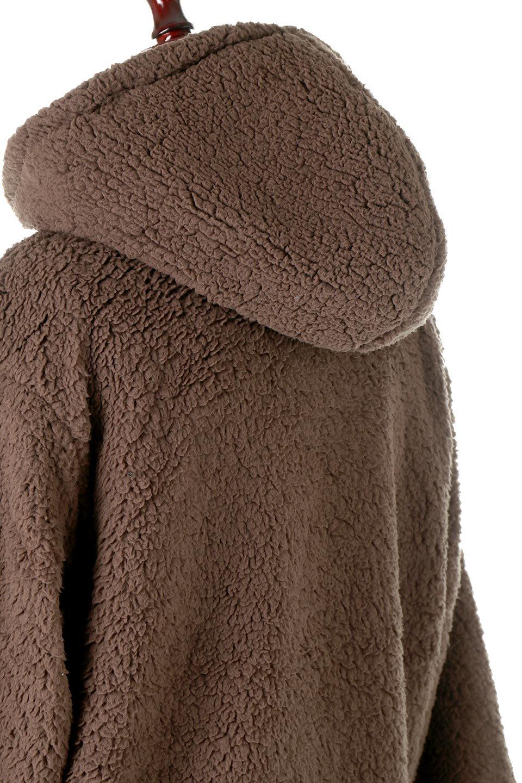 ShearlingFleeceHoodedJacketボアフリース・フード付きジャケット大人カジュアルに最適な海外ファッションのothers(その他インポートアイテム)のアウターやジャケット。もこもこボアのあったかフリースジャケット。程よいミドル丈がボトムスを選ばずコーデを楽しむことができるニュアンスカラーの万能アウターはインナーを変えて秋口から真冬にかけて大活躍。/main-18